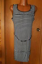 f25603d562ccb Lands End Womens Nylon Swim Cover XL (18) Black White Stripes Tank Modest 1X