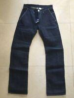 Rogan NYC Men Jeans Bow Jean Pant Raw Blue Denim White Stitch size 32 NEW $325