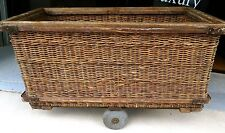 SUPER RARE EARLY 1900's BRISBANE WOOL STORES, TENERIFFE CANE / WICKER TROLLEY