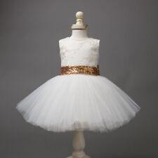 Flower Girl Dress Kids Pageant Communion Wedding Formal Party Tutu Gown Princess