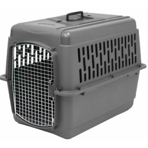 Small Pet Cage Dog Cat Travel Plastic Portable Kennel Safety Carrier Heavy Duty
