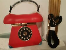 Ladies Handbag. Telephone. Mirror. Red. Shoulder Strap. Fast 'N' Free Delivery.