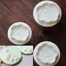3 Moules Gateaux Fleurs Emportes Pieces ROSE Cake design Pate à Sucre & d'Amande