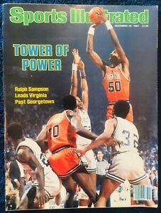 12.20.1982 RALPH SAMPSON Sports Illustrated Virginia Cavaliers - Label Removed