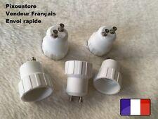 Lot de 2 adaptateurs douille GU10 male - E14 femelle pour ampoule culot 8-45