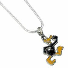 Looney Tunes Daffy Duck Cute Necklace Pendant - Silver Plated Carat Cartoons