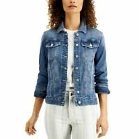 JOES JEANS NEW Women's Dolores Wash The Relaxed Denim Jacket Top L TEDO