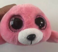 "Ty Beanie Boos 8"" Pierre Pink Seal Stuffed Animal Plush VelveTy #M8"