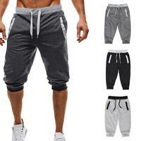 Summer Casual Men's Elastic Waist Shorts Half Pants Sports Gym Sweatshorts SF