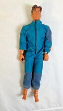 "Vintage Mattel Max Steel 12"" Action Figure with Blue Jumpsuit 1998"