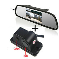 Car Parking Reversing Radar Camera Alarm System +Rearview Mirror Display Monitor