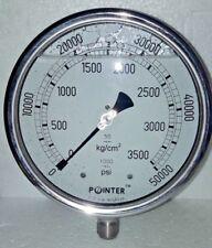 High Pressure Gauge Dual Scale 0 3500 Bar 0 50000 Psi