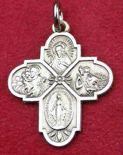 WWII Chaplain Sterling Miraculous Medal St Christopher Joseph Sacred Heart Cross