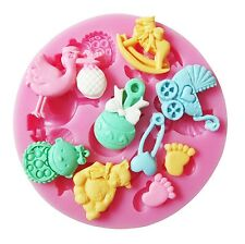 Baby Shower Silicone Mould Fondant chocolate cake cupcake decorations