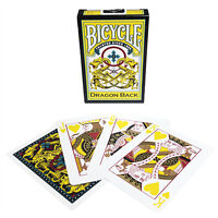 Bicycle Dragon Back Deck - Yellow - Playing Cards - Magic Tricks - New