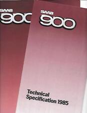 SAAB 900 1984 FULL RANGE BROCHURE AUTO e 1985 opuscolo le specifiche
