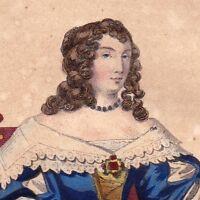 Portrait XIXe Madeleine de Scudery Femme de Lettres Romancière 1841