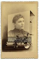 1894 Cabinet Card Photo Lady Edith Porter   Genealogy Ancestry family tree