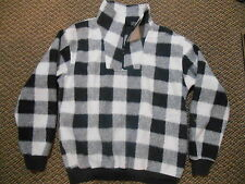 Old Used or Vintage Cheval Black White Checkered Plaid Pull over Sweater Size 40