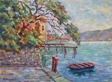 Pierre HENSELER (1903-1985) HsP Fasano, Lac de Garde 1981 / Ecole Belge