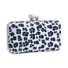Elegant Women Leopard Print Evening Bags Wedding Cocktail Party Clutch Handbag