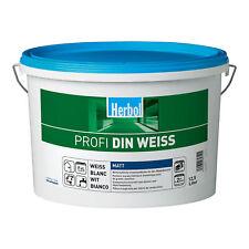 Herbol Profi DIN weiß Wandfarbe Dispersionsfarbe innen, 12,5l ab 1.99?/l (32x)