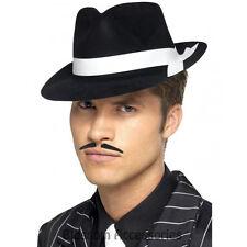 A463 Mens Al Capone Hat 1920s Razzle Fedora Gangster Trilby Blue Brothers Mafia