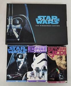 Star Wars Original Trilogy THX Widescreen Edition VHS Box Set PW