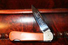 RARE HUBERTUS WERKSTOFF HOCHLEISTUNGSSTAHL 4109 FOLDING KNIFE - UNSHARPENED
