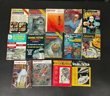 SCIENCE FICTION PULP LOT OF 14 DIFF. MOSTLY 60'S GALAXY,ASTOUNDING,AMAZING,MORE!