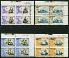 CHRISTMAS ISLAND - 1972 'SHIPS' Set of 16 Blocks of 4 MNH SG37-52 [B5913]
