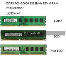 2GB/4GB/8GB DDR3 PC3-10600E/10600U 1333MHz Lote De Memoria Ram 240pin DIMM para Computadora De Escritorio