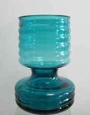 WMF Vase blau 14,5 cm hoch Design Cari Zalloni Rillen (D)