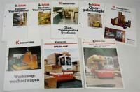 8 Prospekte Kalmar Irion mit Technischen Informationen ca 80er / 90er Jahre