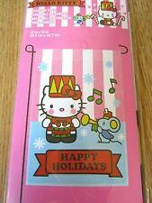 "Hello Kitty Garden Flag Happy Holidays 12"" X 18"" Inches, NEW"