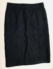 New CHADWICK'S of BOSTON Wool Blend Plaid SkIrt 12 Petite Blue Grey Pencil