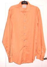 Jolie chemise homme orange clair CALVIN KLEIN Slim fit T 16 TBE