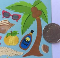 FLORIDA Binder Stickers(20pc)Sticko •Vacation•Sunny•Beach•Palm Tree •Sand•Ocean•