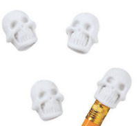 Pack of 24 - Skull Pencil Top Erasers