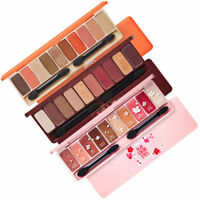 10 Color Eyeshadow Natural Shimmer Matte Palette Collection Set