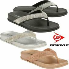 Ladies Low Wedge Heel Comfort Walking Flip Flops Fitness Cushioned Sandals Shoes