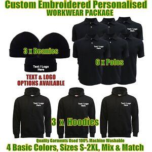 Custom Embroidered Personalised Workwear Package Builders Gardeners Uniforms