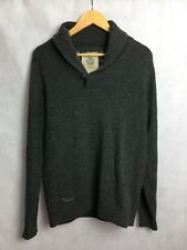 NEXT JUMPER SIZE S CHARCOAL GREY 80% LAMBSWOOL BLEND FINE KNIT