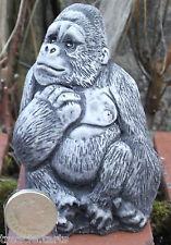 Gorilla Small 4inch tall - Stone Garden Ornament - Hand Cast = 6x5x9 cms358 gram