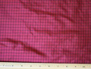 "Red/Black Tissue Taffeta Checks 100% Silk Fabric, 44"" Wide, By The Yard (SD-688)"