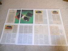 Turntable Review, 8 pg, 1985, Kyocera PL-701, Linn Sondek LP12, Sota Star, RARE!