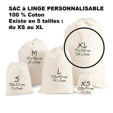 SAC à LINGE a personnaliser LESSIVE vetements enfants Taille XL Grand modèle