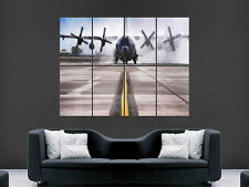 LOCKHEAD C130 HERCULES ARMY MILATARY TRANSPORT PLANE LARGE PICTURE POSTER GIANT