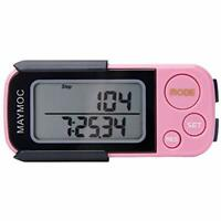 3D Pedometer Pedometers Step Tracker For Walking Steps Miles/Km Accurate Clip On