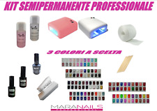 SEMIPERMANENTE KIT COMPLETO 3 SMALTI PER SMALTO SOAK-OFF NAIL ART PROFESSIOANLE
